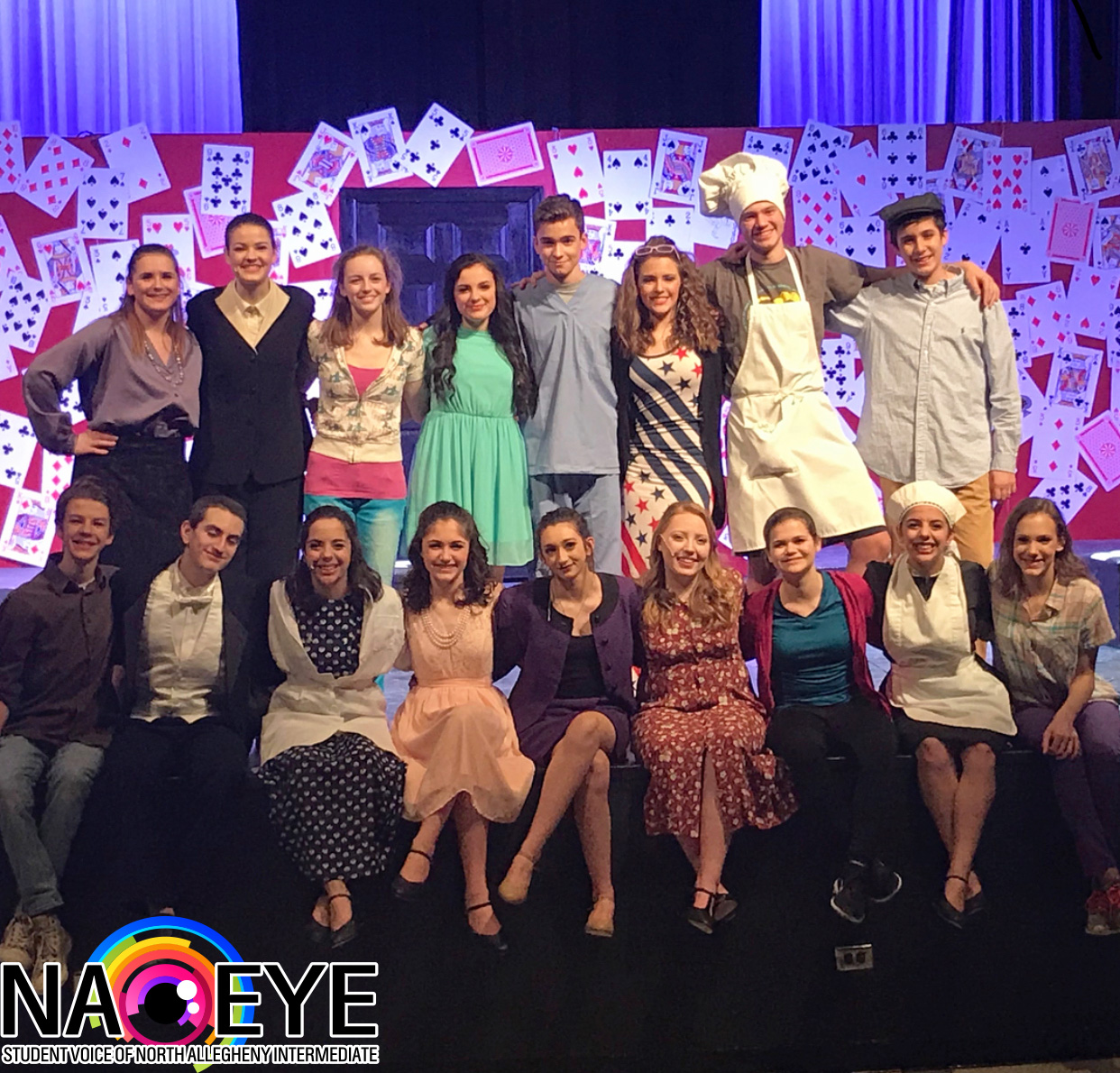 The extremely talented cast of The Westing Game. Congrats on the great show!