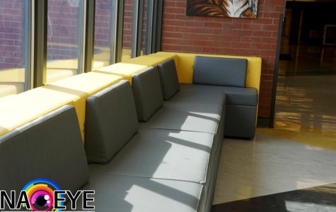 Lounge couches outside of the main office