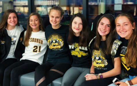 (left to right) Sydni Junker, Chloe Aglietti, Anna Parsons, Addison Wood, Katie Zimsky, Hannah Ziegler, 9th