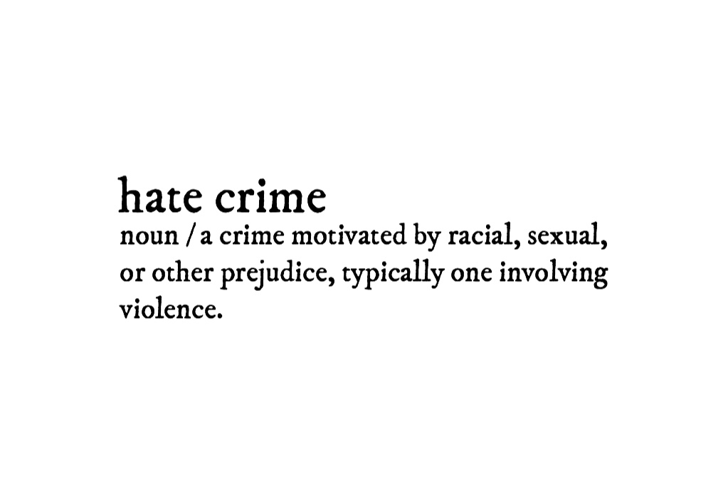 In lieu of tragic events in Pittsburgh, it's time for us to reevaluate what a hate crime is and why they're occurring.