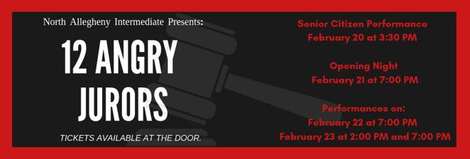 NAI's Spring Play: 12 Angry Jurors