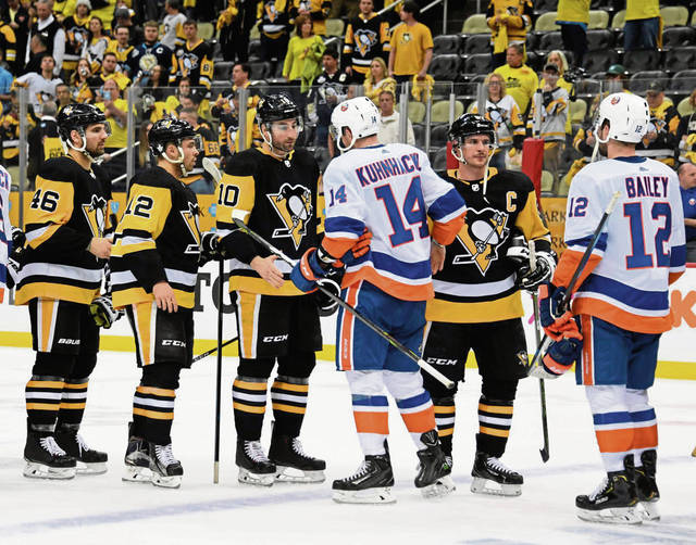 The+Penguins+say+goodbye+to+any+hopes+of+winning+the+Stanley+Cup+after+getting+swept+by+the+Islanders.