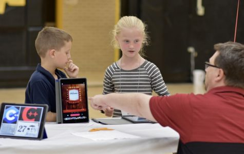 Elementary students from North Allegheny School District show the community the new and engaging technology that they have worked with within the past year.