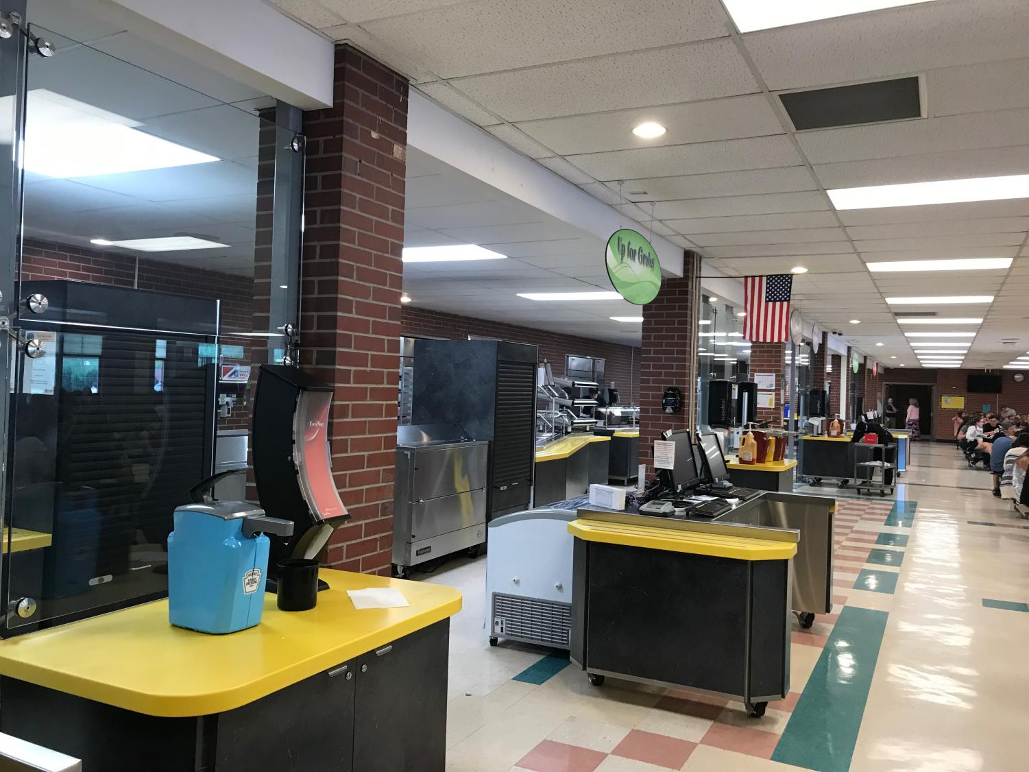 The NAI cafeteria serves a variety of foods with multiple lunch lines.