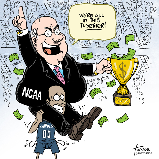The+debate+rages+on+as+to+whether+college+athletes+should+be+paid+for+their+services%2C+in+the+form+of+cash.