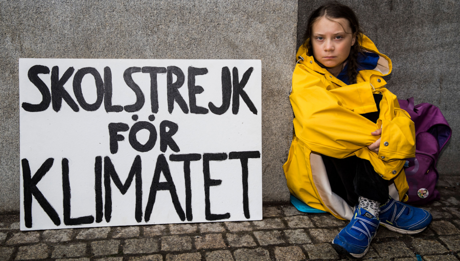 A year ago, Greta Thunberg protested climate change alone.  Today, she stands with millions
