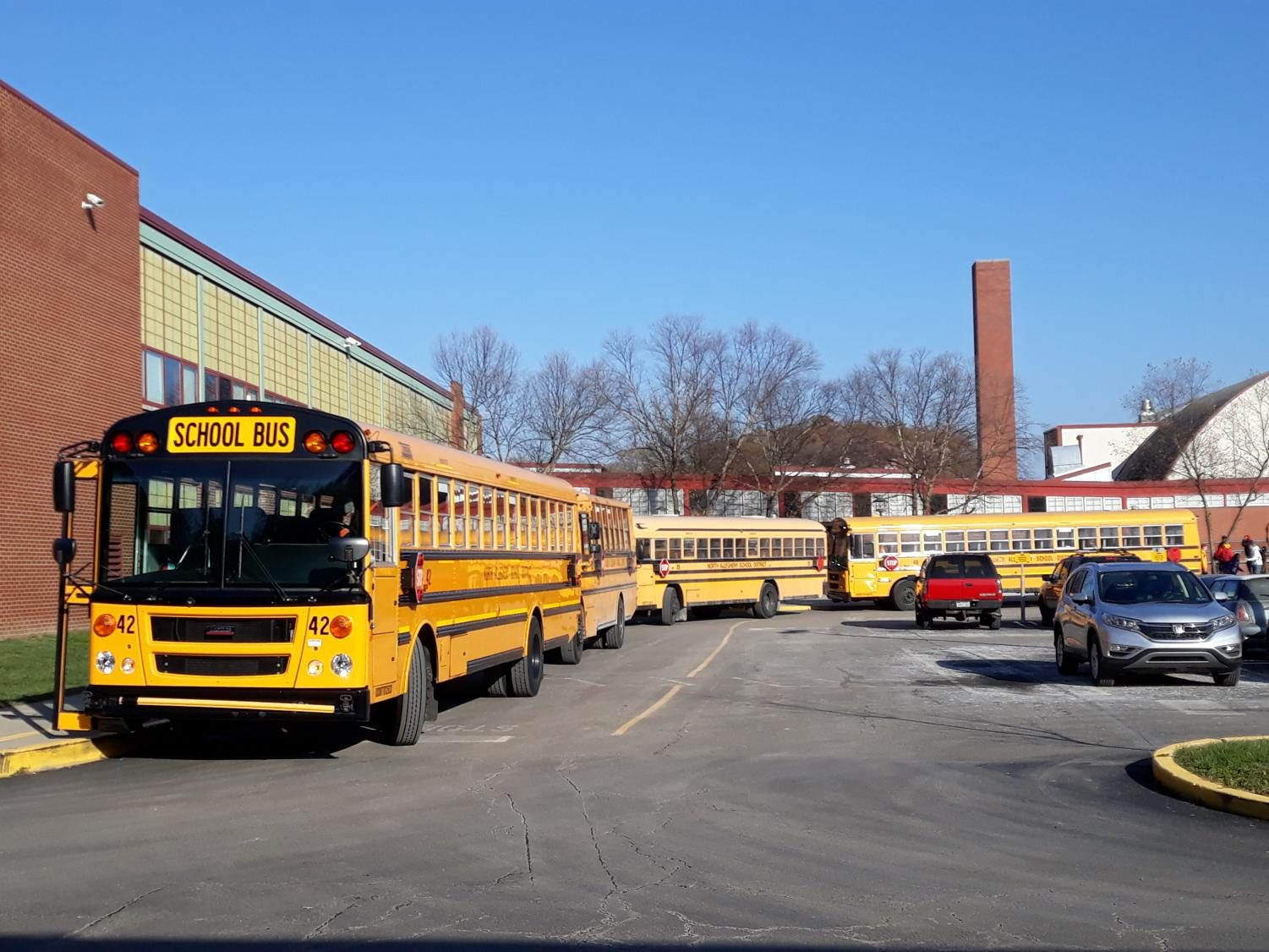 A+large+number+of+bus+drivers+is+required++for+the+sheer+number+of+school+buses+that+service+North+Allegheny+every+day.