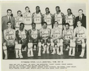 Pittsburgh Pipers ABA basketball team 1967-68