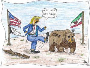 Kicking the Bear: Political Cartoon