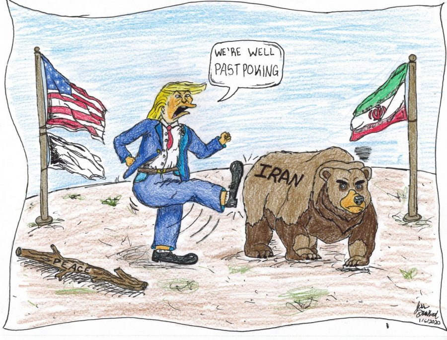 Kicking the Bear: Political Cartoon