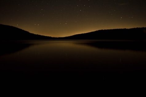 Night time at Deer Valley lake. Photo taken by Joe Hommrich.