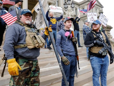 Armed protestors in Michigan demand Governor Whitmer to lift the lockdown.