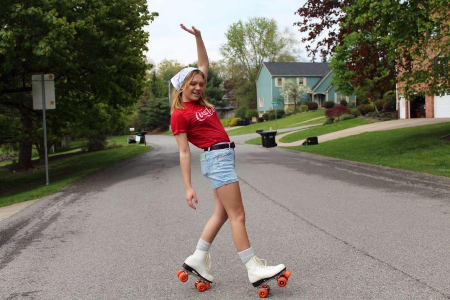 I just started roller skating. It's been fun getting outside. - Kaitlyn Klinefelter, Freshman