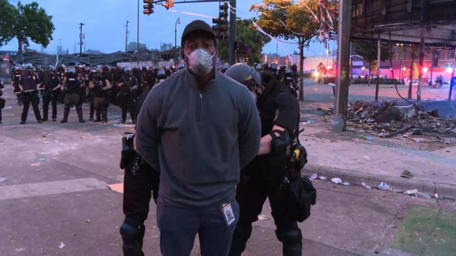CNN reporter, Omar Jimenez, being arrested. https://www.cnn.com/2020/05/29/us/minneapolis-cnn-crew-arrested/index.html