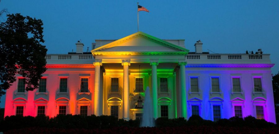 When+the+Obama+administration+legalized+gay+marriage+in+2015%2C+the+White+House+was+lit+up+with+rainbow+colors+to+celebrate+the+achievement+for+LGBTQ+Americans.
