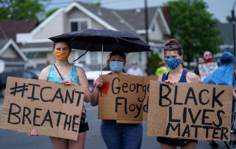 White protesters march in solidarity with their black community in Minneapolis, Minnesota to bring justice to the death of George Floyd.