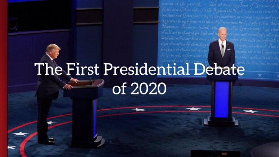 The First Presidential Debate of 2020
