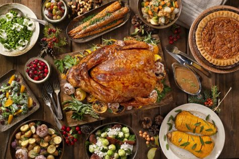 The centerpiece of contemporary Thanksgiving in the United States is a large meal, generally centered on a roasted turkey.