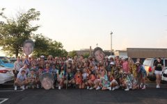 Student Section in Hawaiian attire, the yearly season-opening theme.